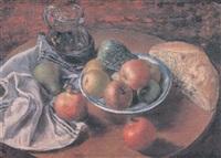 pan, vino y frutas by jose aguiar garcia