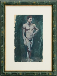standing male nude by pavel tchelitchew