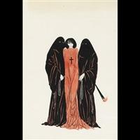 illustrations for a work by joris-karl huysman - les visions du mer (+ captive maiden; 2 works) by alastair (hans henning baron vogt)