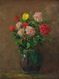 stilleben mit blumen in vase by karl albrecht