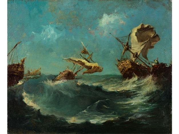 Segelschiffe auf dem meer  SEGELSCHIFFE AUF STÜRMISCHEM MEER von Francesco Guardi auf artnet
