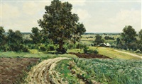 summer landscape by vladimir nikolaevitch aralov