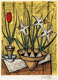 jonquilles et tulipes by bernard buffet