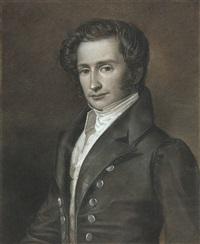 porträt des malers gaston lenthe by franz krüger