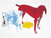 untitled (two dogs) by jean-michel basquiat and andy warhol