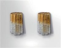 Applique con inserti in polvere d oro di barovier toso anni