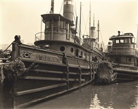 tugboats, pier no.10, east river, may 12 by berenice abbott