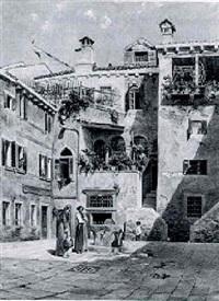 der corte del teatro in venedig by johann (jan) kautsky
