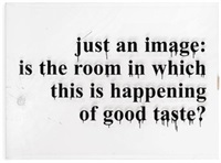 just an image in the room by monica bonvicini