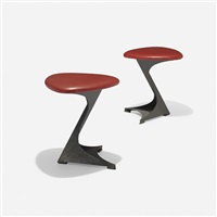 stools from the tabourettli theatre (pair) by santiago calatrava
