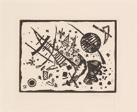 holzschnitt für die ganymed-mappe by wassily kandinsky