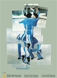 xiv olympic winter games, sarajevo by david hockney