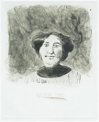 george sand : gustave flaubert by david hockney