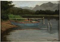 lago di levico by ernesto alcide campestrini