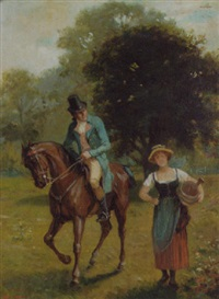 the squire's greeting by george fox