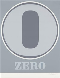 zero, from numbers by robert indiana