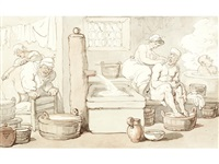the turkish bath by thomas rowlandson