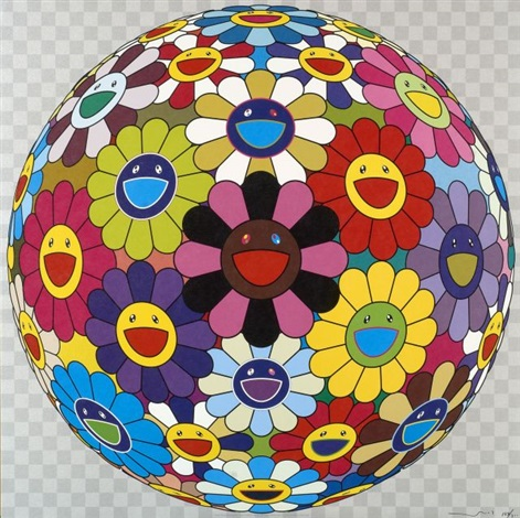 flowerball by takashi murakami
