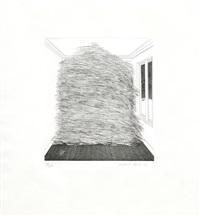 room full of straw by david hockney