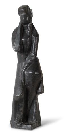 figure habillée - figure de femme debout by joseph csaky