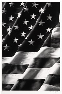 untitled (old glory), left side by robert longo