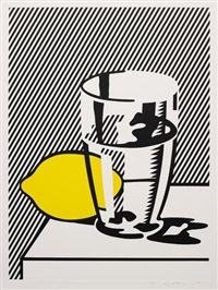 untitled (still life with lemon and glass), from for meyer schapiro by roy lichtenstein