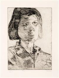 #21 (portrait of phyllis) (from 41 etchings drypoints portfolio) by richard diebenkorn