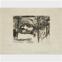 winter am walchensee (hotel fischer am see) by lovis corinth
