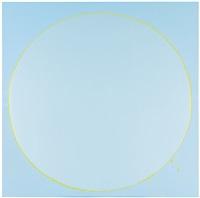 untitled circle painting: light blue, green, light blue by ian davenport