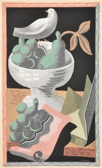 gouache, original work by gino severini