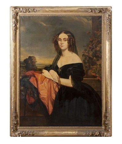 portrait de claire de béarn duchesse de vallombrosa by franz xaver winterhalter