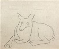 deux etudes de chiens (2 works) by fernand léger