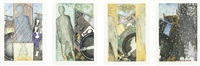 the seasons (set of 4) by jasper johns