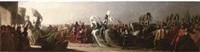 henry viii arriving in calais by benjamin robert haydon