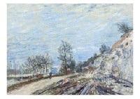 sur la route de moret by alfred sisley