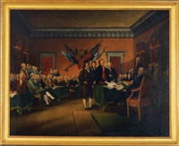 the signing of the declaration of independence by john trumbull