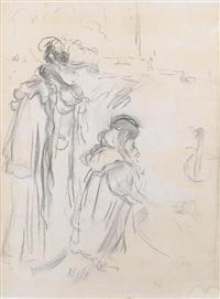 femme et enfant au bois by berthe morisot