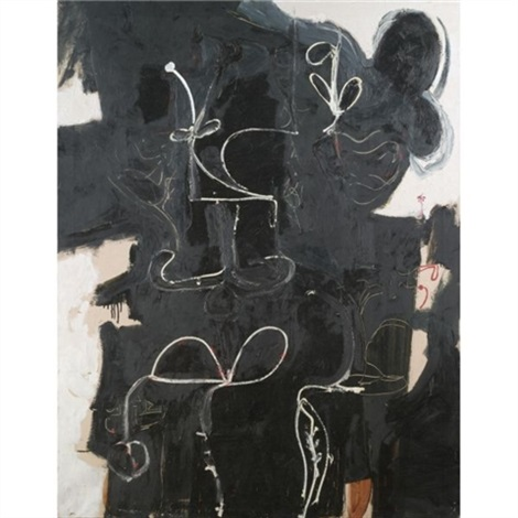 black painting by george condo