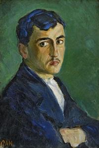 porträtt av ung man by gösta (gan) adrian-nilsson