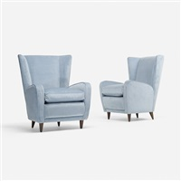 pair of lounge chairs from hotel bristol, merano (pair) by paolo buffa
