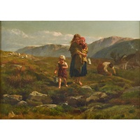 children fetching water by frederick goodall