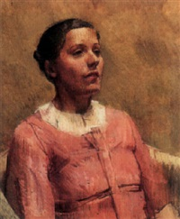 portrait of a lady in pink by william coldstream