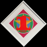 one (from the american dream portfolio) by robert indiana