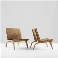 lounge chairs (pair) by edward durell stone