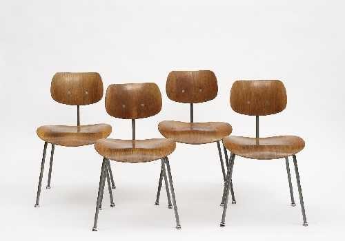 Stühle Se 68 Set Of 4 Von Egon Eiermann Auf Artnet