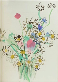 pour un herbier (13 watercolors and 13 pencil drawings) by colette