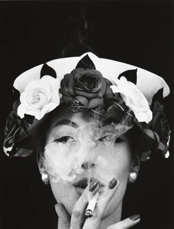 hat and five roses, paris (for vogue) by william klein