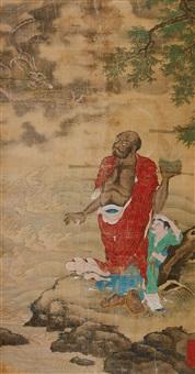 降龙罗汉图 by chen zhuo