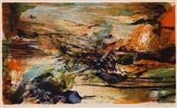 pl.3 (from a la gloire de l)image et art poetique by zao wou-ki