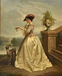 la dame à la rose by florent willems